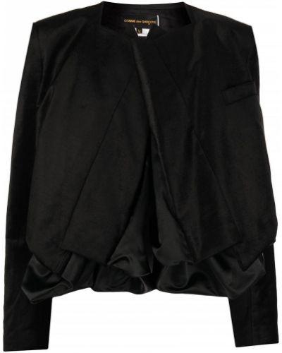 Бархатный пиджак - черный Comme Des Garçons