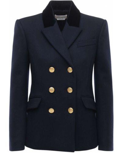Шерстяная куртка с подкладкой на пуговицах Alexander Mcqueen