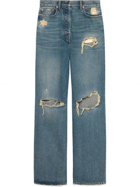 Bawełna bawełna niebieski jeansy chłopaki z kieszeniami Gucci