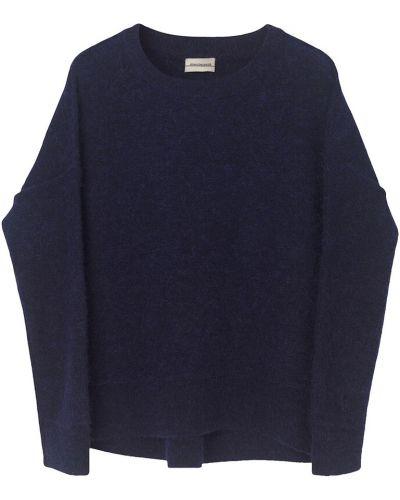 Czarny długi sweter oversize na co dzień By Malene Birger