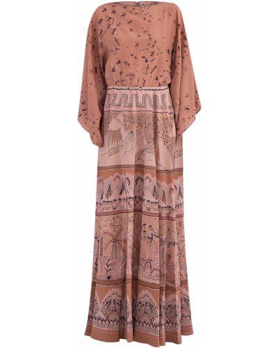 Платье макси с драпировкой из крепа Valentino