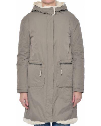 Серое пальто осеннее Armani Jeans