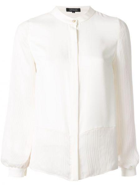 Biała koszula z długimi rękawami Loveless