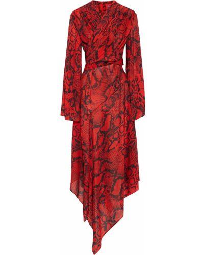 Шелковое платье миди Solace London