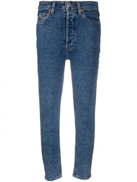 Z wysokim stanem bawełna jeansy na wysokości z kieszeniami zabytkowe Re/done