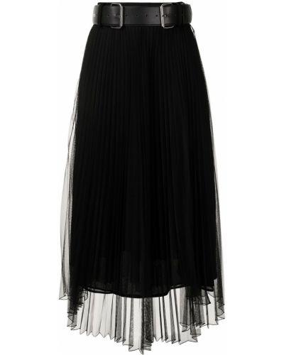 Czarna spódnica plisowana Rokh