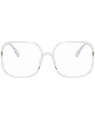 Черные очки для зрения прозрачные квадратные Dior
