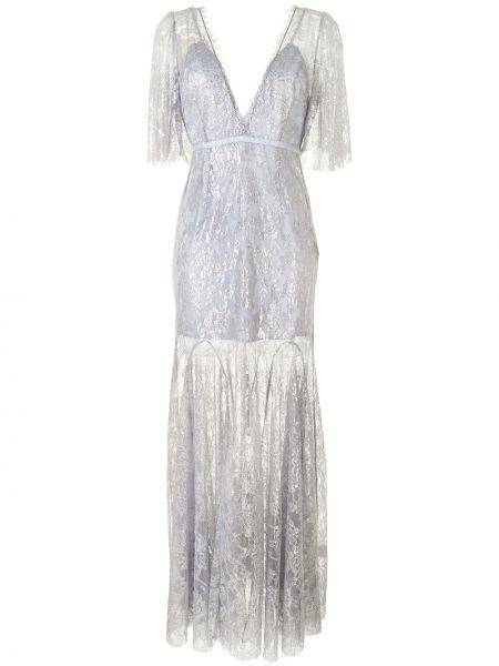 Нейлоновое платье мини с вышивкой с V-образным вырезом с короткими рукавами Alice Mccall