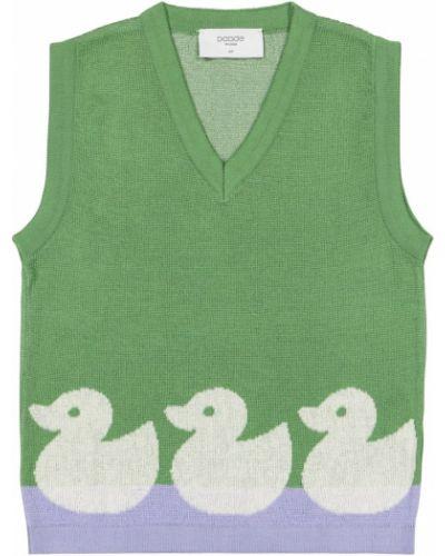 Zielona kamizelka bawełniana Paade Mode