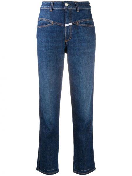 Синие с завышенной талией прямые джинсы Closed