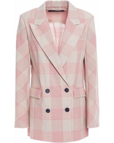 Пиджак в клетку двубортный с карманами Roland Mouret