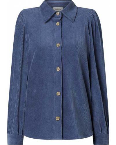 Bluzka bawełniana - niebieska Modström