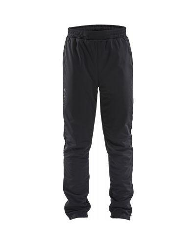Прямые черные брюки для бега Craft