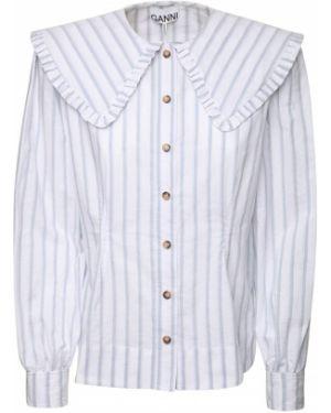 Koszula z mankietami w paski Ganni