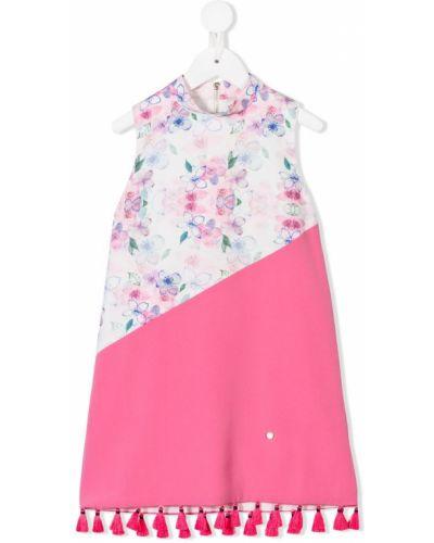 Розовое платье с рукавами Le Mu