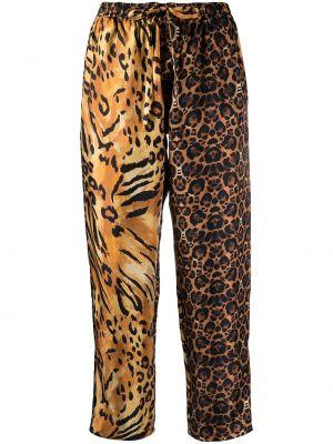 Брючные шелковые оранжевые укороченные брюки Pierre-louis Mascia