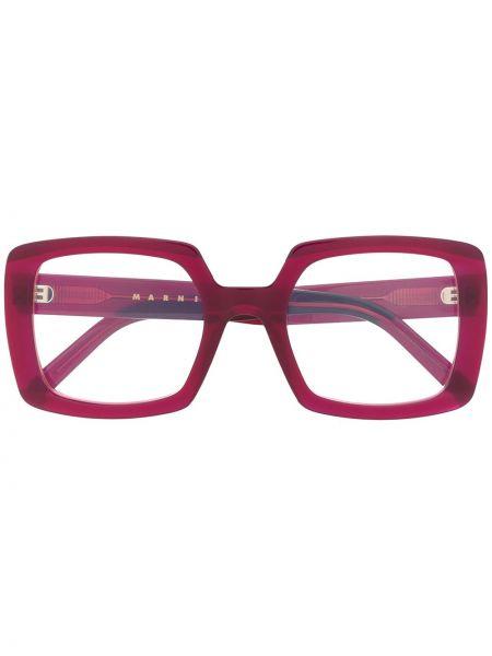 Розовые очки квадратные Marni Eyewear