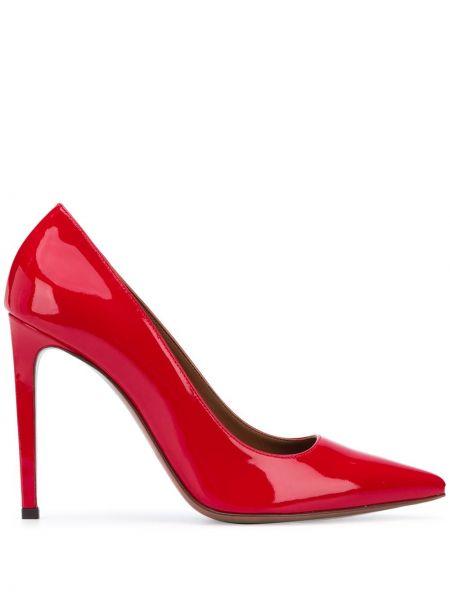 Кожаные лаковые красные туфли-лодочки L'autre Chose