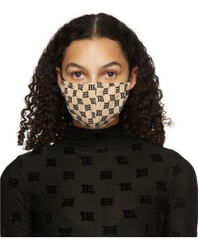 Трикотажная черная маска для лица стрейч Misbhv