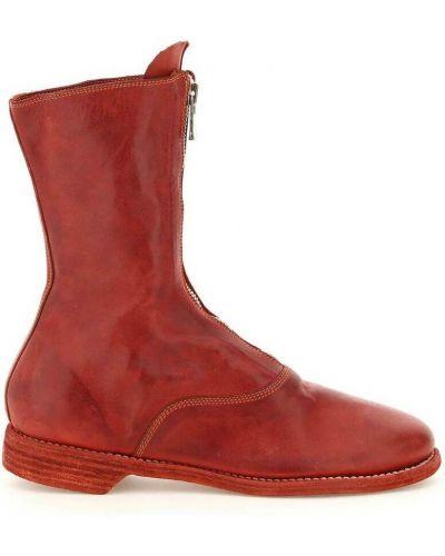Czerwone ankle boots Guidi