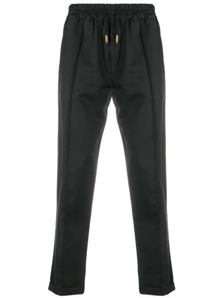 Спортивные черные зауженные брюки с карманами бязевые Billionaire