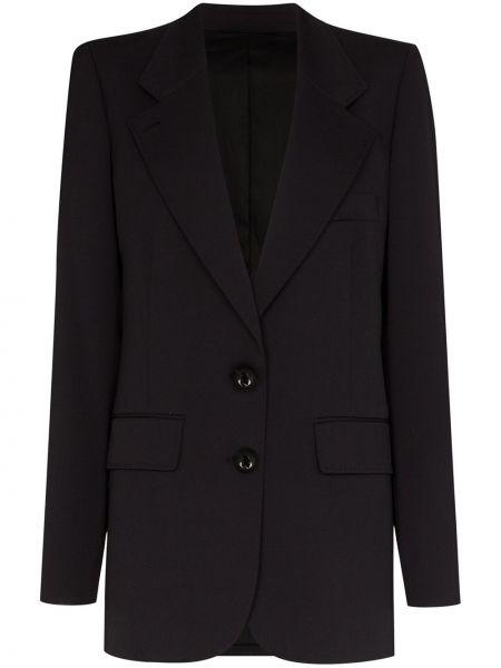 Однобортный черный пиджак с карманами Lemaire