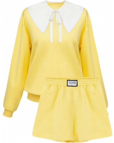 Żółty garnitur bawełniany Sleeper