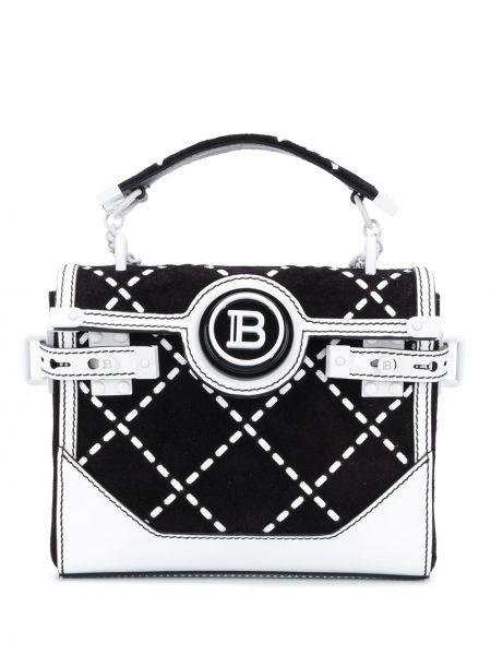Skórzany plecak czarny biały Balmain