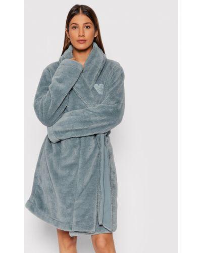 Szlafrok - niebieski Emporio Armani Underwear