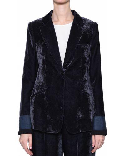 Пиджак синий из вискозы Rene Lezard
