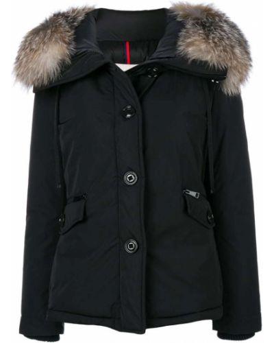 Длинная куртка с мехом прямая дутая Moncler