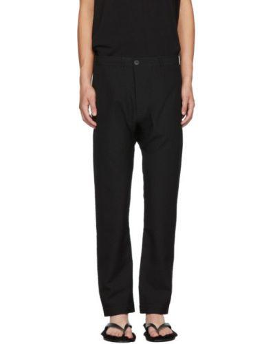 Czarne spodnie wełniane z paskiem Jan-jan Van Essche