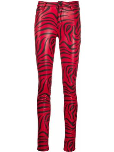 Хлопковые красные брюки с карманами Philipp Plein