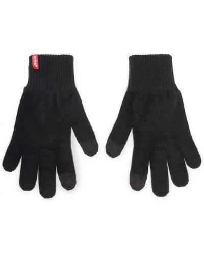 Czarne rękawiczki Levi's