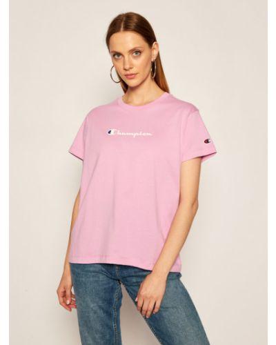Fioletowy t-shirt Champion