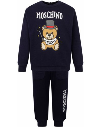 Синий спортивный спортивный костюм Moschino