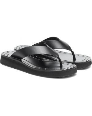 Черные кожаные туфли на платформе из натуральной кожи The Row
