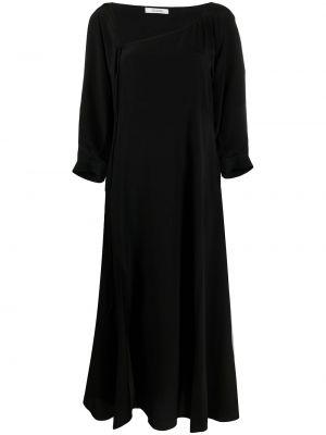 Шелковое черное платье миди трапеция Dorothee Schumacher