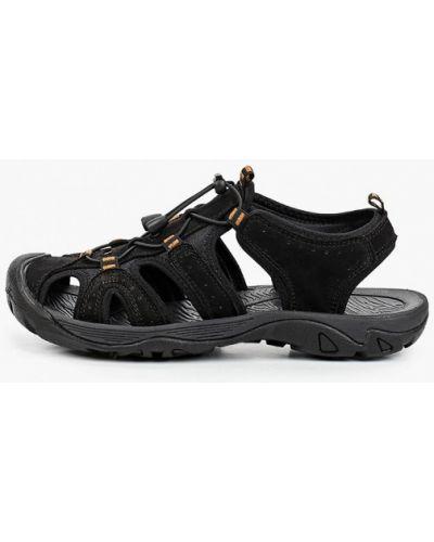 Черные сандалии из нубука Strobbs