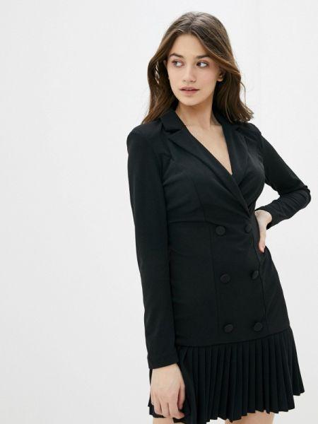 Платье прямое черное Rinascimento