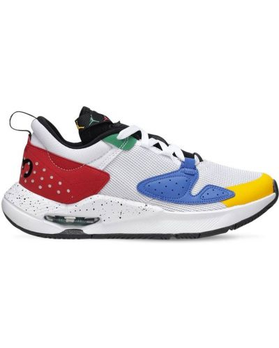 Ażurowy biały sneakersy na sznurowadłach Nike