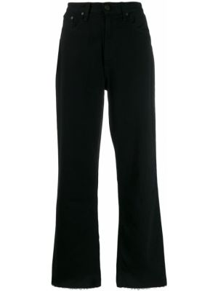 Расклешенные джинсы черные с карманами Rag & Bone