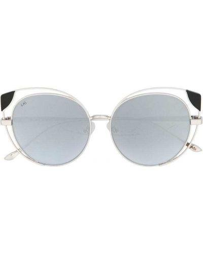 Солнцезащитные очки кошачий глаз серые For Art's Sake