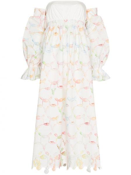 Хлопковое платье - белое Rosie Assoulin