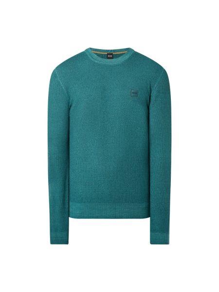 Sweter wełniany - turkusowy Boss Casualwear
