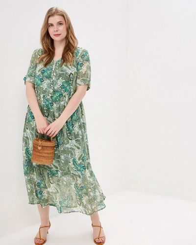 Повседневное платье весеннее зеленый Ulla Popken