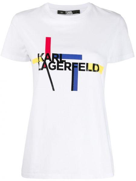 Топ короткий белый Karl Lagerfeld