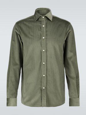 Хлопковая зеленая рубашка на кнопках Ralph Lauren Purple Label