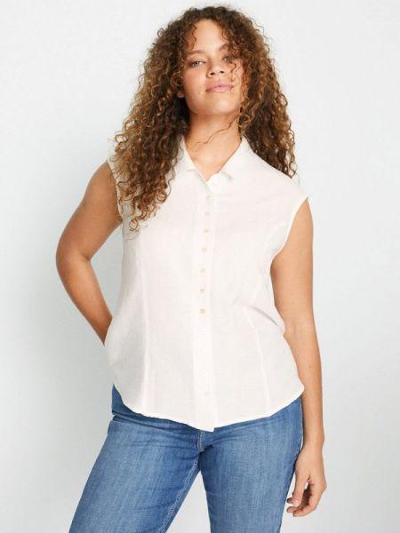 Рубашка с коротким рукавом фиолетовый белая Violeta By Mango