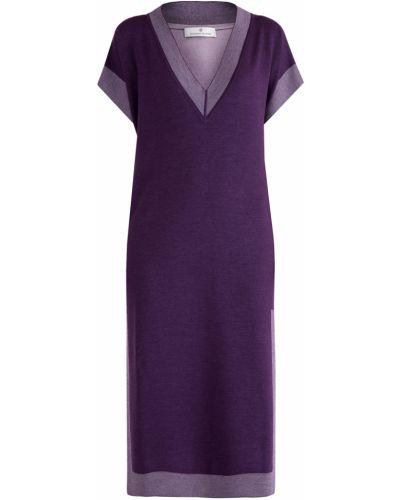 Шелковое платье - фиолетовое Maison Ullens